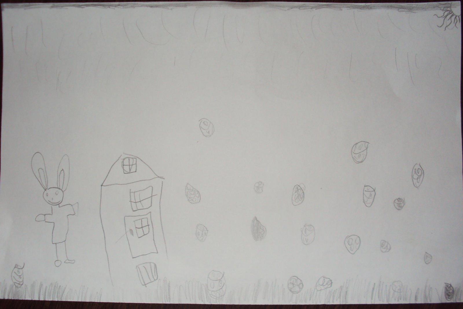 kunst ei beplakken met geknipt papier