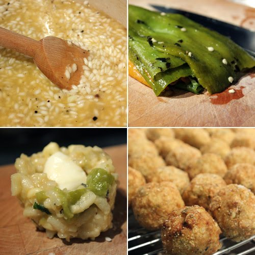 lisa is cooking: Risotto Balls with Hatch Chiles, Fresh Corn, and ...