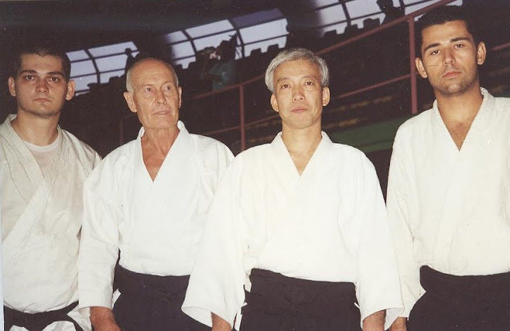Roma 2000 – impreuna cu Doshu Ueshiba Moriteru, Verona sensei și Mitu sensei