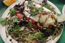 Egg White Caprese Omelet...Salad