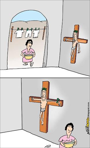 jesus. varal. pregador