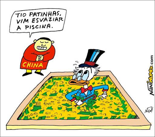 China esvaziando o cofre do Tio Patinhas