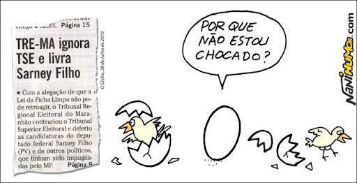 Perguntas retóricas do ovo. TRE-MA ignora TSE e livra Sarney Filho
