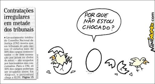 Perguntas retóricas do ovo. Contratações irregulares em metade dos tribunais