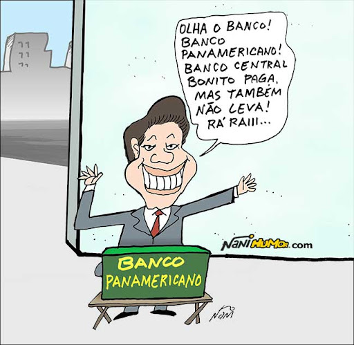 Resultado de imagem para BANCO PANAMERICANO CHARGES