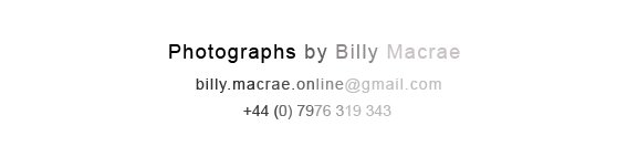 photographs by billy macrae