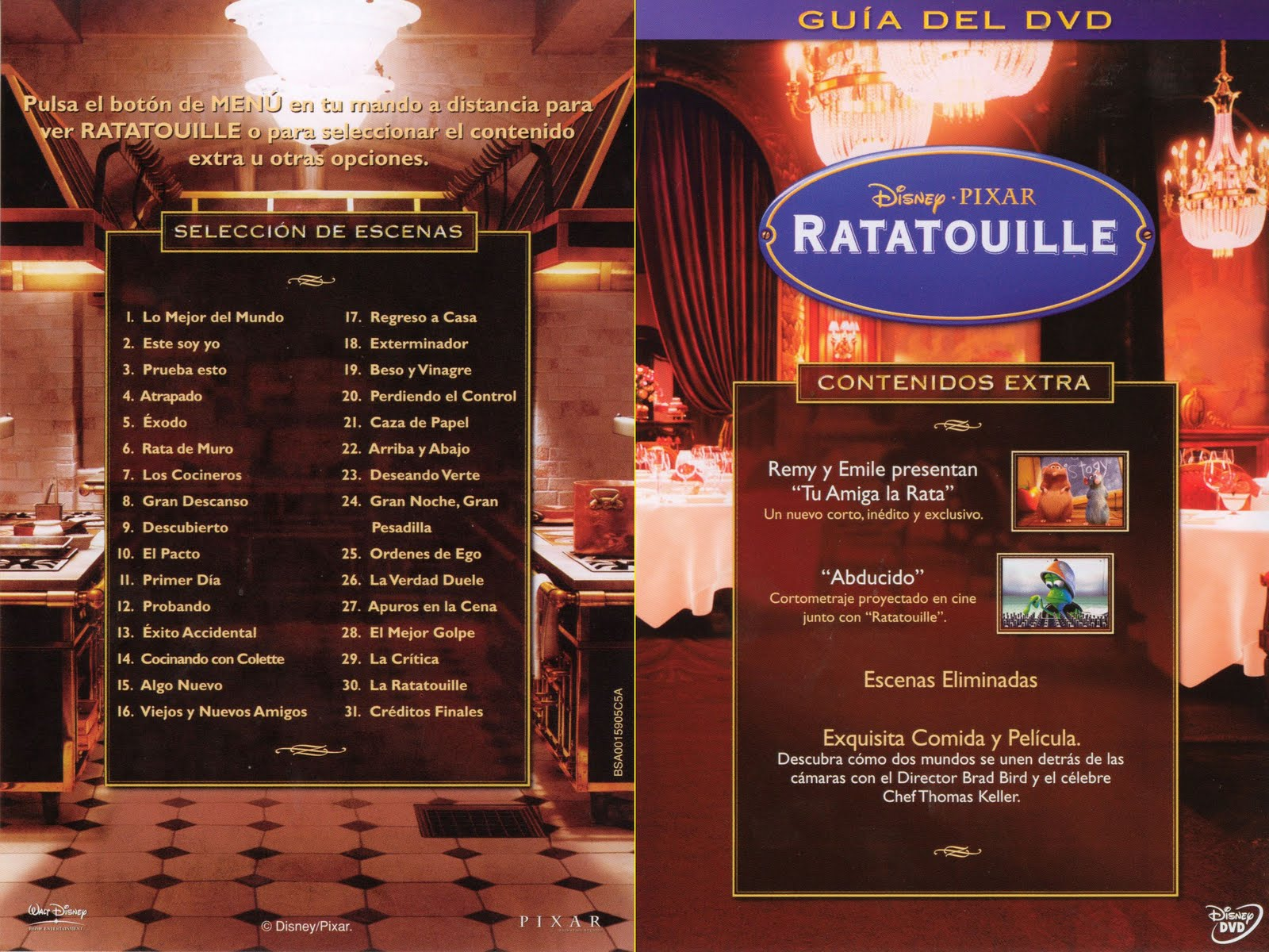 RatatouilleRatatouille Dvd Menu
