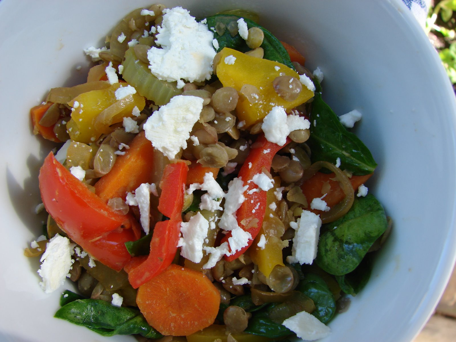 Cathie Cooks Food: Warm Lentil Salad with Goat Cheese
