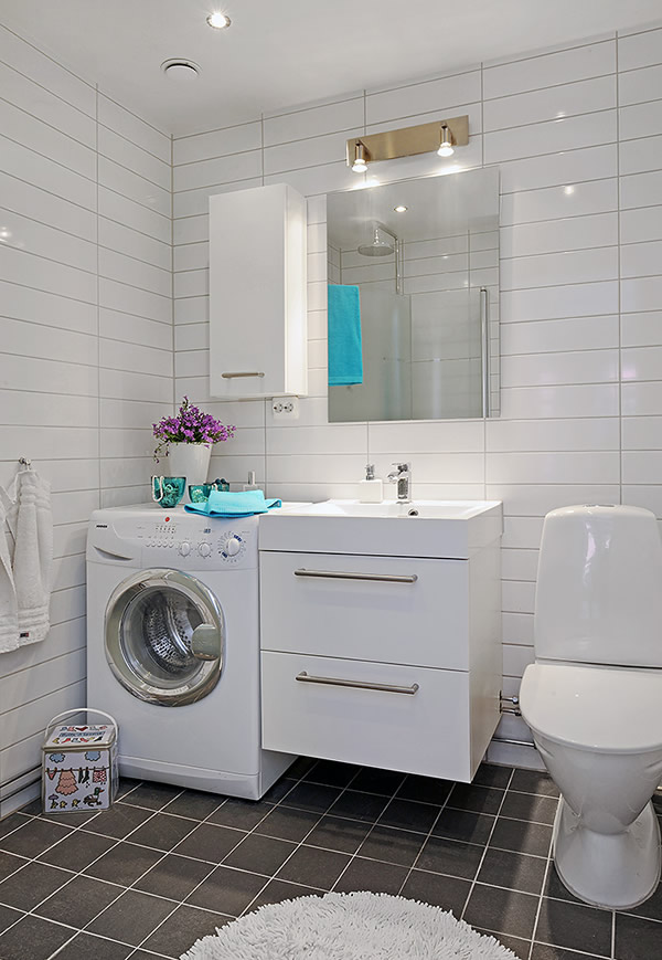 Simply stoked decorating small spaces - Washing machine for small spaces gallery ...