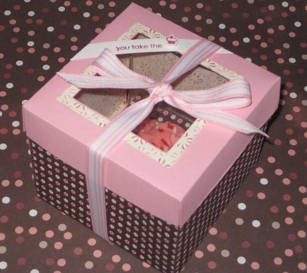 Create Me Pink Valentines Day Cupcake Box