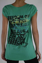 The Hot Shirt: Country Love &#39;Birds Fly&#39; Soft Cotton Tee in Evergreen $64