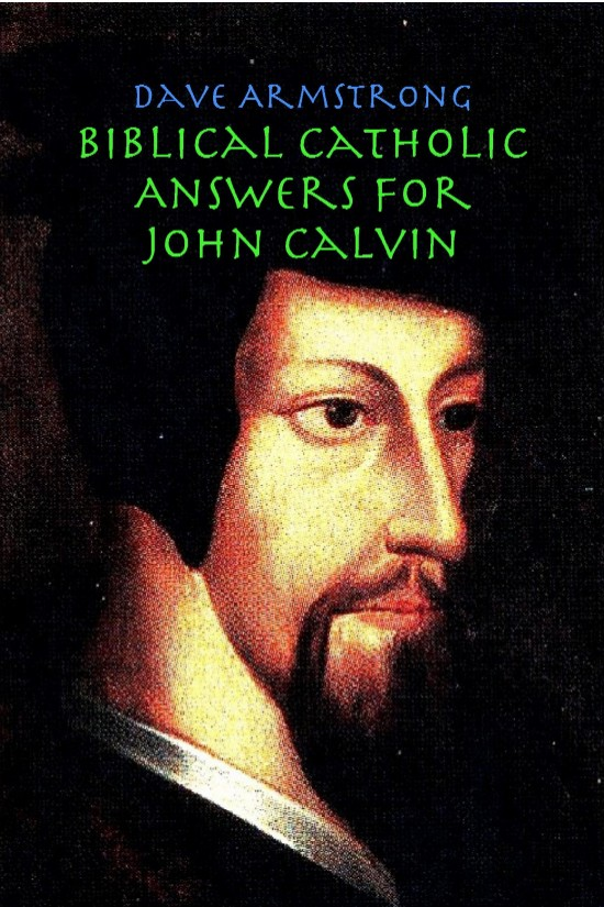 John Calvin (1509-1564). Engraving from the original oil painting in the