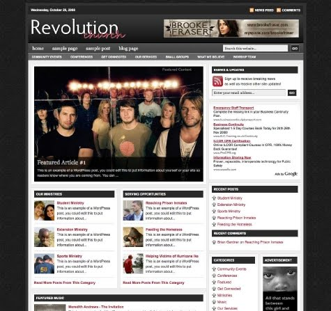 Revolution church wordpress theme
