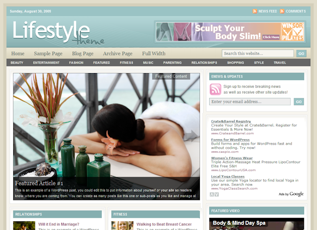 Image for Studiopress Lifestyle Theme