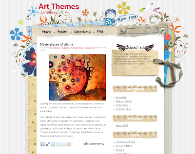 Craft work - art wordpress theme free download.
