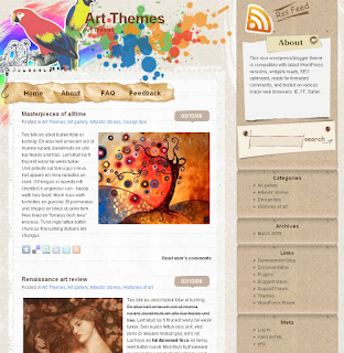 Doodle - art wordpress theme free download.