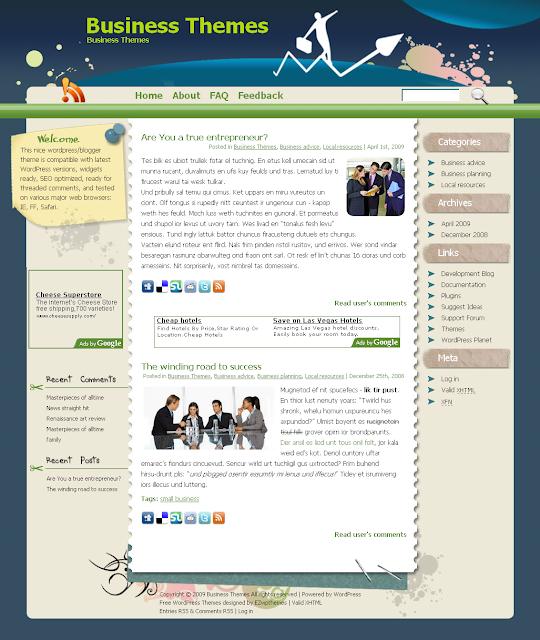 Bizmaniac business wordpress theme free download.