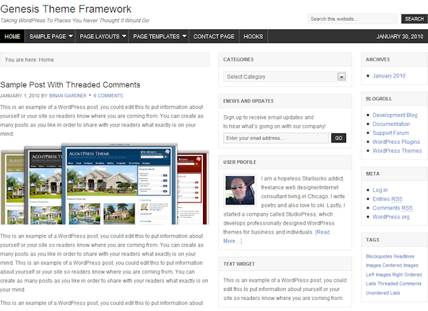 Image for Updated Studiopress Genesis Theme Framework and Child Themes
