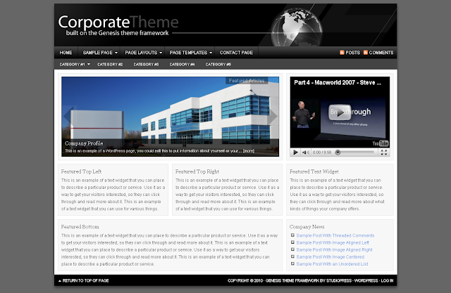 Corporate Child Theme Free Download.