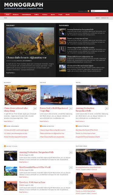 Monograph Magazine Wordpress Theme by WPZoom Free Download.