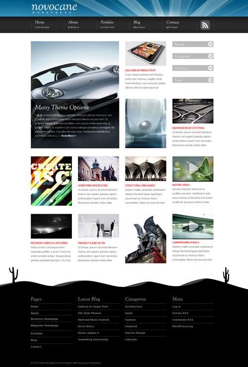 Novocane Wordpress Theme Free Download by Themeforest.