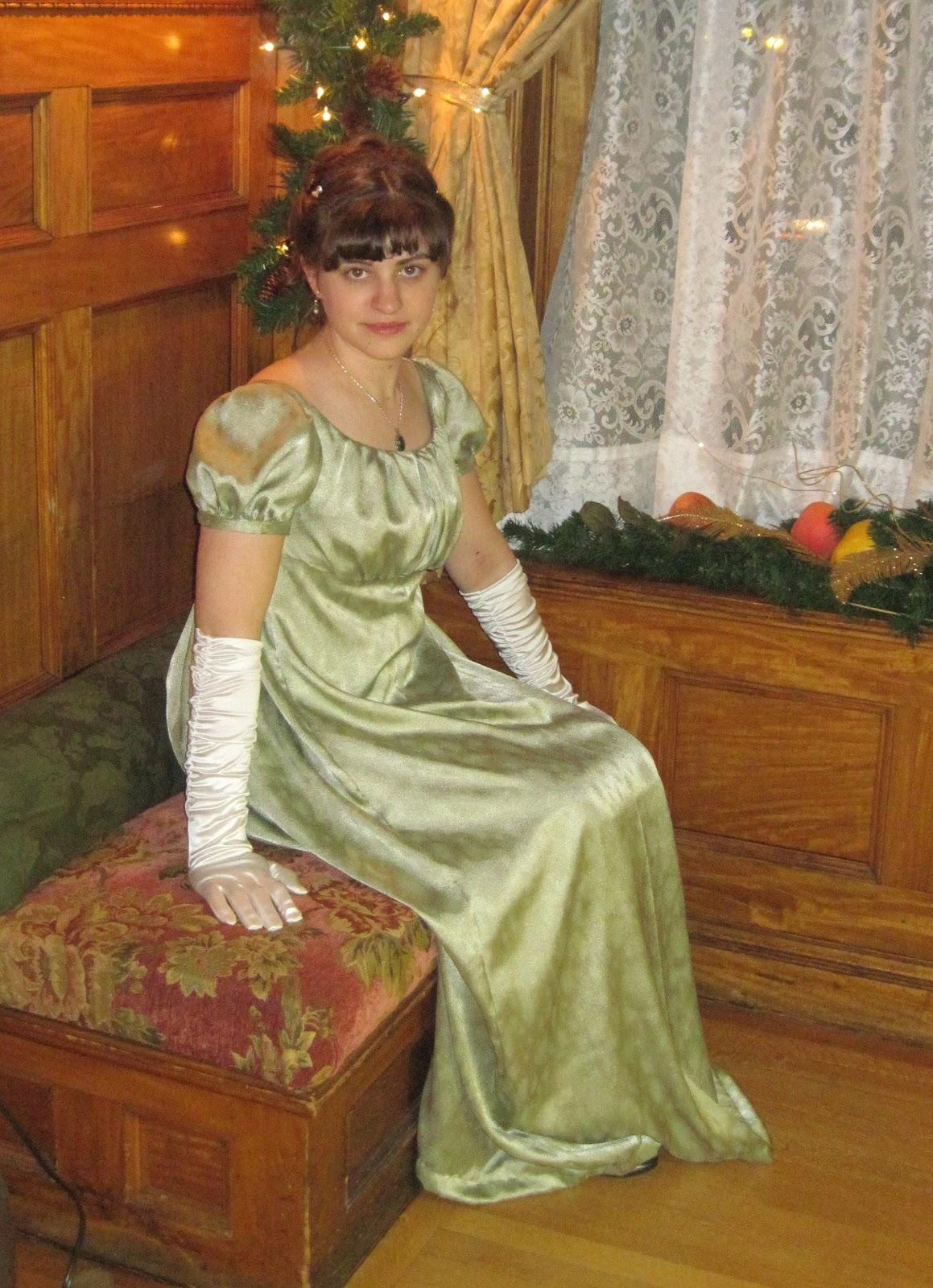 The Dashwood Sisters: Elinor\'s Sage Green Regency Gown