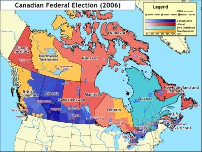 Postal code map canada
