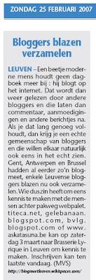 BlogMeet Leuven in De Zondag