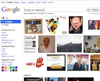 Línies en valencià, segons Google