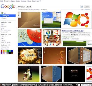 Windows i Ubuntu segons Google