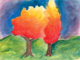 teaching handwork examples of waldorf school watercolor paintings