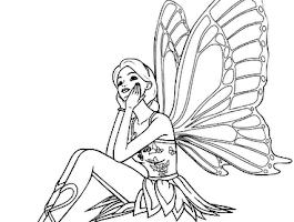 Barbie Fairy Secret Coloring Pages To Print