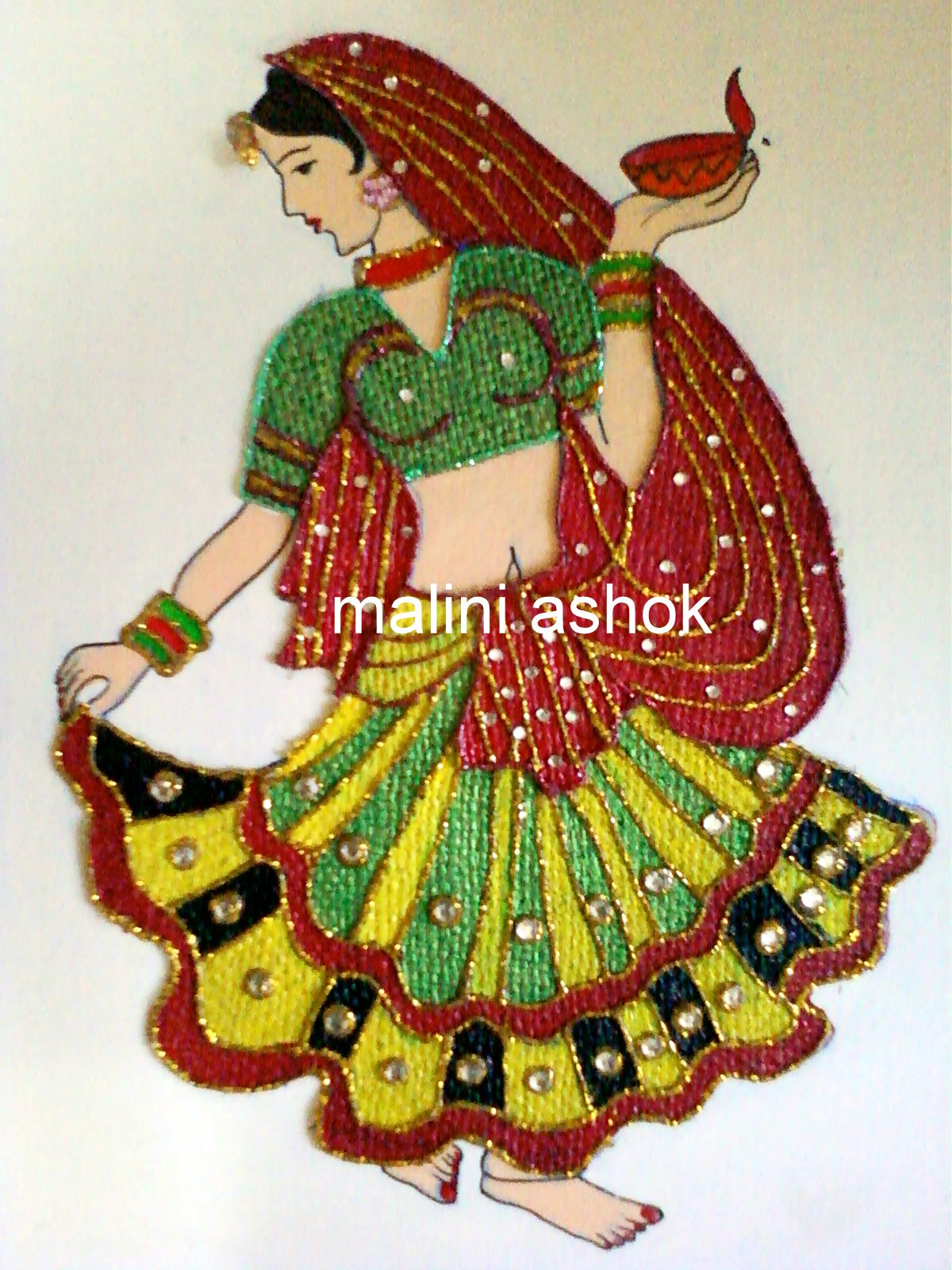 Avni 39 s art and crafts jute mural for Arts and crafts mural