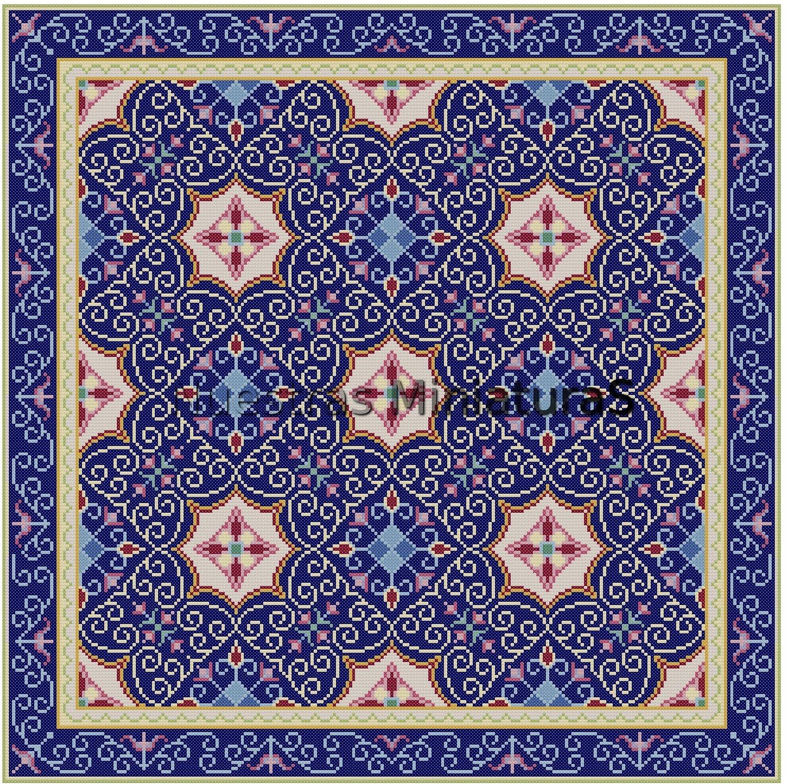 Alfombra Azul Miniature Rugs Carpets