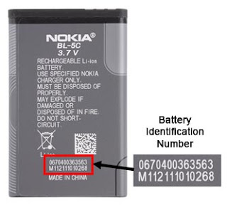 Nokia Issue Battery Warning for BL-5C Model, how to check serial number