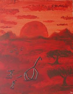 Prähistorische Jagd in der afrikanischen Savanne