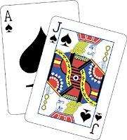Blackjack probabilities table
