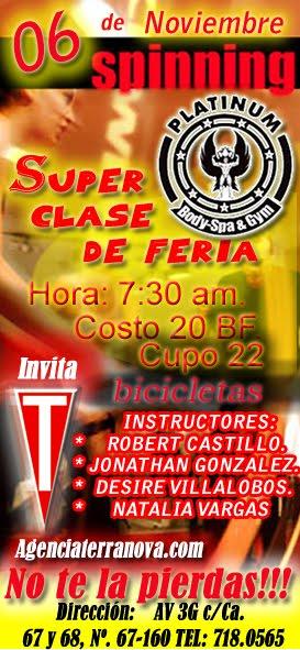 SUPER CLASE DE SPINNIG 6 DE NOVIEMBRE 2009