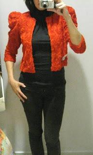 H&M garden collection red jacket @ Fashion Herald