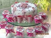 flores lilás e rosa