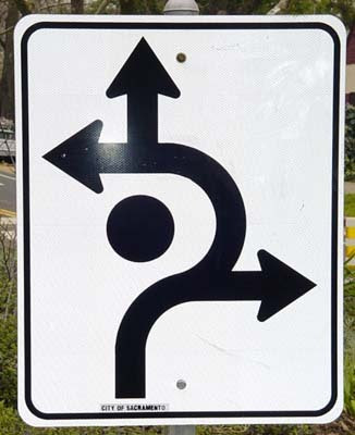 Roundabout Road Sign. simple sign at the main
