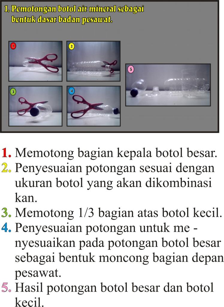 Cara Membuat Pesawat Tempur Mainan dari Barang Bekas