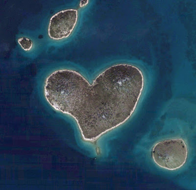 Love island: The Coeur de Voh (heart of Voh) in New Caledonia in the Pacific