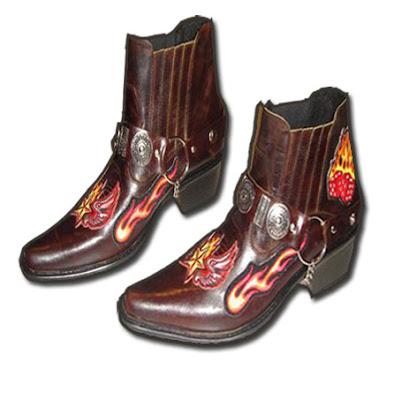 Chaussures avec ecussons