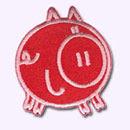 Customize.fr ecusson Cochon rouge