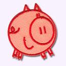 Customize.fr ecusson Cochon rose
