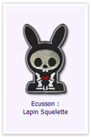 Customize.fr Ecusson Lapin squelette
