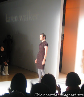 Karen Walker at the end of her show
