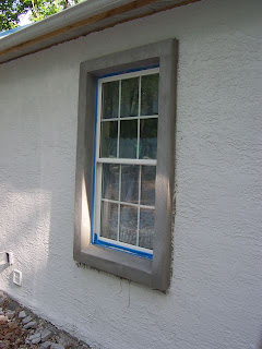 Brigid 39 s wood next we 39 ll paint the textured stucco for Exterior window trim on stucco