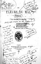"""EDICIÓN ORIGINAL DE LAS """"FLORES DEL MAL"""" COMENTADO POR BAUDELAIRE A SU IMPRESOR"""